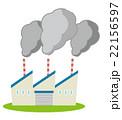 煙害 工場 大気汚染のイラスト 22156597