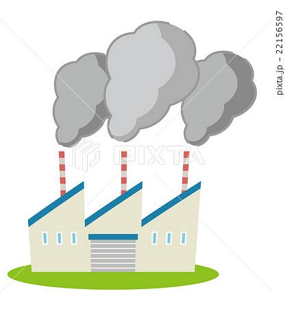 煙害 工場災害シリーズのイラスト素材 22156597 Pixta