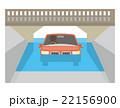 水没 冠水 車【災害・シリーズ】 22156900
