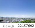 日野市の高台から見た住宅街の風景  22157692