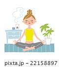 ヨガ 瞑想 22158897