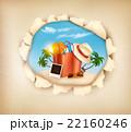 浮かぶ島 ビーチ ヤシのイラスト 22160246