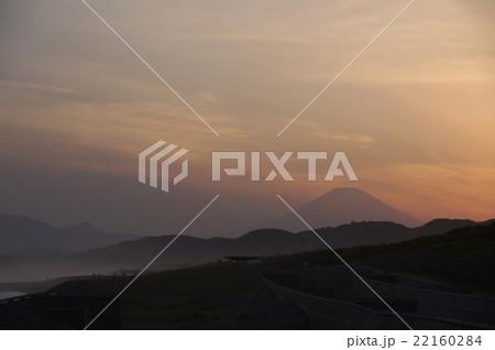 富士山 夕焼け 22160284