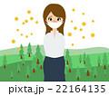 花粉症に悩む女性 22164135