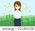 花粉症に悩む女性 22164136