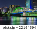 勝どき橋 橋 夜景の写真 22164694