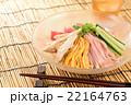 冷やし中華 麺料理 食べ物の写真 22164763