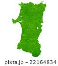秋田県地図 22164834