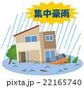 集中豪雨 洪水 水害 住宅 22165740