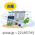 台風 暴風雨 災害 住宅 22165743