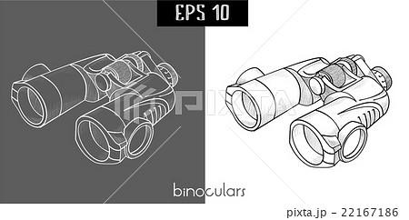 black and white binocularのイラスト素材 [22167186] - PIXTA