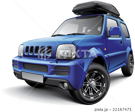 Asian off-road mini SUV with roof bag 22167475