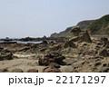 ゴジラ岩 岩 海岸の写真 22171297