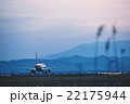 夕暮れの仙台空港と蔵王連峰 22175944