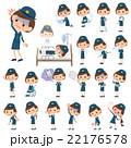 女性 婦警 病気のイラスト 22176578