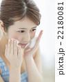 洗顔 スキンケア 女性の写真 22180081