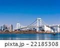 東京 お台場から見るレインボーブリッジ 22185308