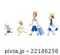 人物 家族 夏のイラスト 22186256