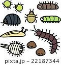 植物に付く害虫のイラストセット 22187344