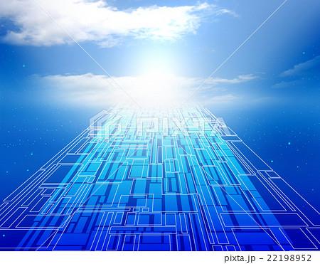 異次元空間 未来 未来的 希望 明日 空間 太陽光のイラスト素材