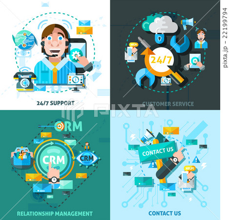 Customer Support Concept Icons Setのイラスト素材 [22199794] - PIXTA