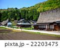 五箇山・相倉地区・そぞろ歩きの観光客の列(2) 22203475