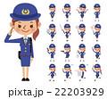 女性警察官のポーズセット(17種) 22203929
