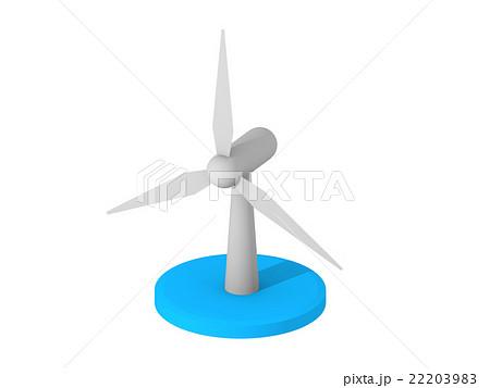 風力発電アイコンのイラスト素材 22203983 Pixta
