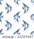 Scalare. Watercolor fish. Seamless pattern 3 22207497