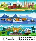 European Touristic Banners Set 22207718