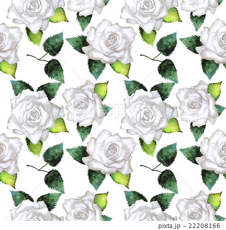 Watercolor pattern with rosesのイラスト素材 [22208166] - PIXTA