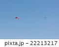 青空を舞うパラシュート 22213217