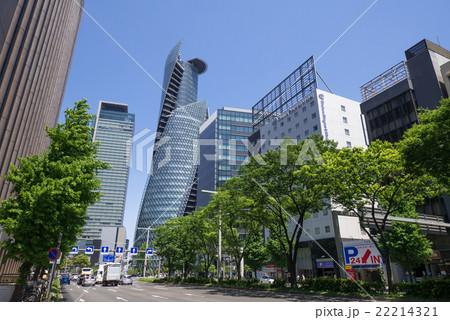名古屋都市風景 名古屋駅前 笹島交差点付近 日本生命笹島ビル前 22214321