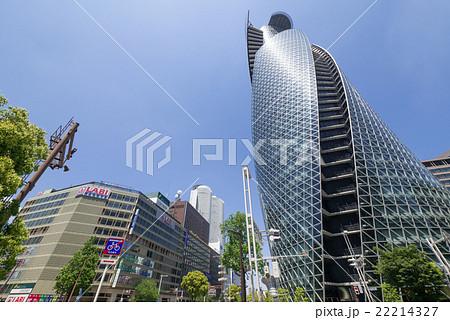 名古屋駅前都市風景 笹島交差点 スパイラル・タワーとツインタワー  22214327