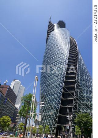 名古屋駅前都市風景 笹島交差点 スパイラル・タワーとツインタワー 22214328
