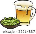 ビールと枝豆 22214337