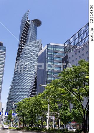 名古屋都市風景 名古屋駅前 笹島交差点付近 日本生命笹島ビル前 22214356