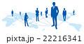 ソーシャルネットワーク ソーシャルネットワークサービス 世界地図のイラスト 22216341
