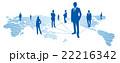 ソーシャルネットワーク ソーシャルネットワークサービス 世界地図のイラスト 22216342