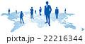 ソーシャルネットワーク ソーシャルネットワークサービス 世界地図のイラスト 22216344