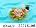 夏の冷しゃぶ(豚肉の冷やししゃぶしゃぶ)料理。 22218106
