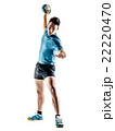 man handball player isolated 22220470