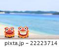 沖縄 阿嘉島 キタ浜ビーチ シーサー 22223714