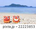 沖縄 阿嘉島 ヒズシビーチ シーサー 22223853