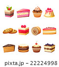 ケーキ 食 料理のイラスト 22224998