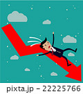 businessman falling from the red chart arrow. 22225766