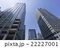 青空 超高層ビル ビル群の写真 22227001