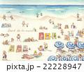ビーチ 地中海 リゾートのイラスト 22228947