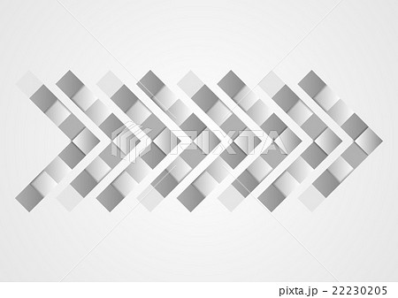 Abstract grey geometric tech arrow designのイラスト素材 [22230205] - PIXTA