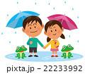 梅雨 雨 ベクターのイラスト 22233992